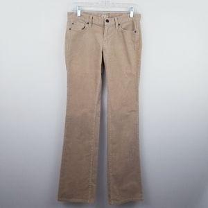 LOFT | Tan Modern Boot Cut Corduroy Pants Size 4